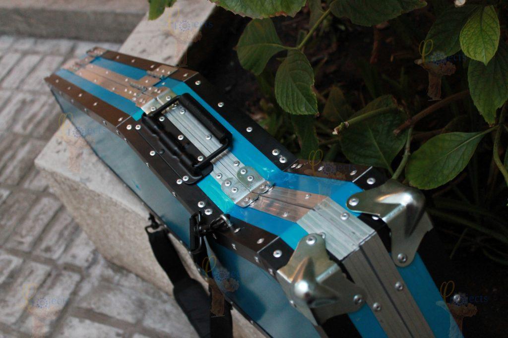 Jackson Warrior JS35 case personalizado  para la forma de la guitarra